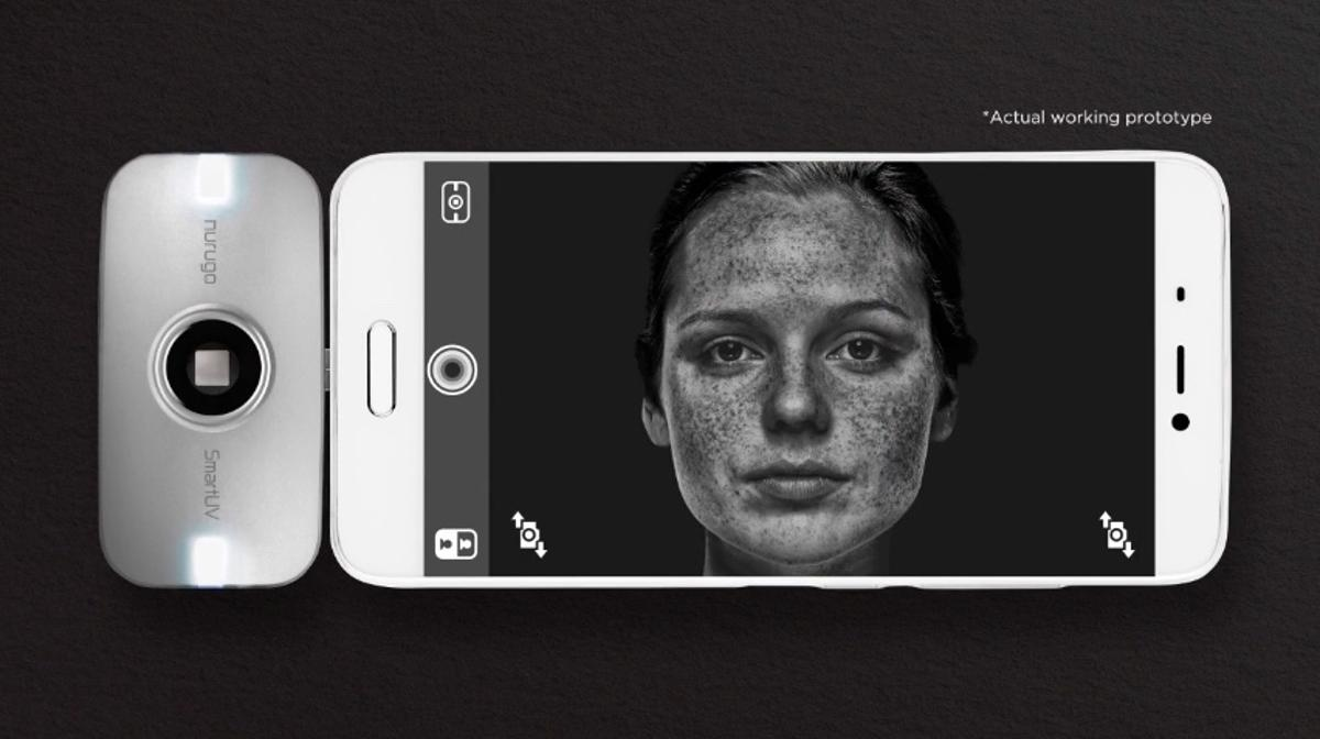 The SmartUVis an ultraviolet camera for smartphones