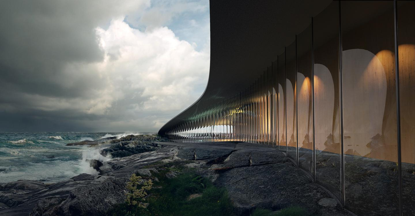 The Whale will feature expansive glazing to frame views of the rugged landscape