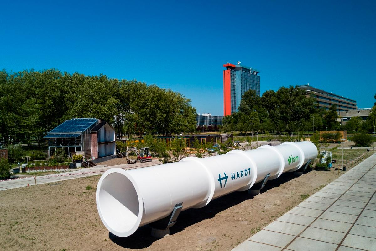 The test facility is the first in a series that the company plans to connect into the first Hyperloop route