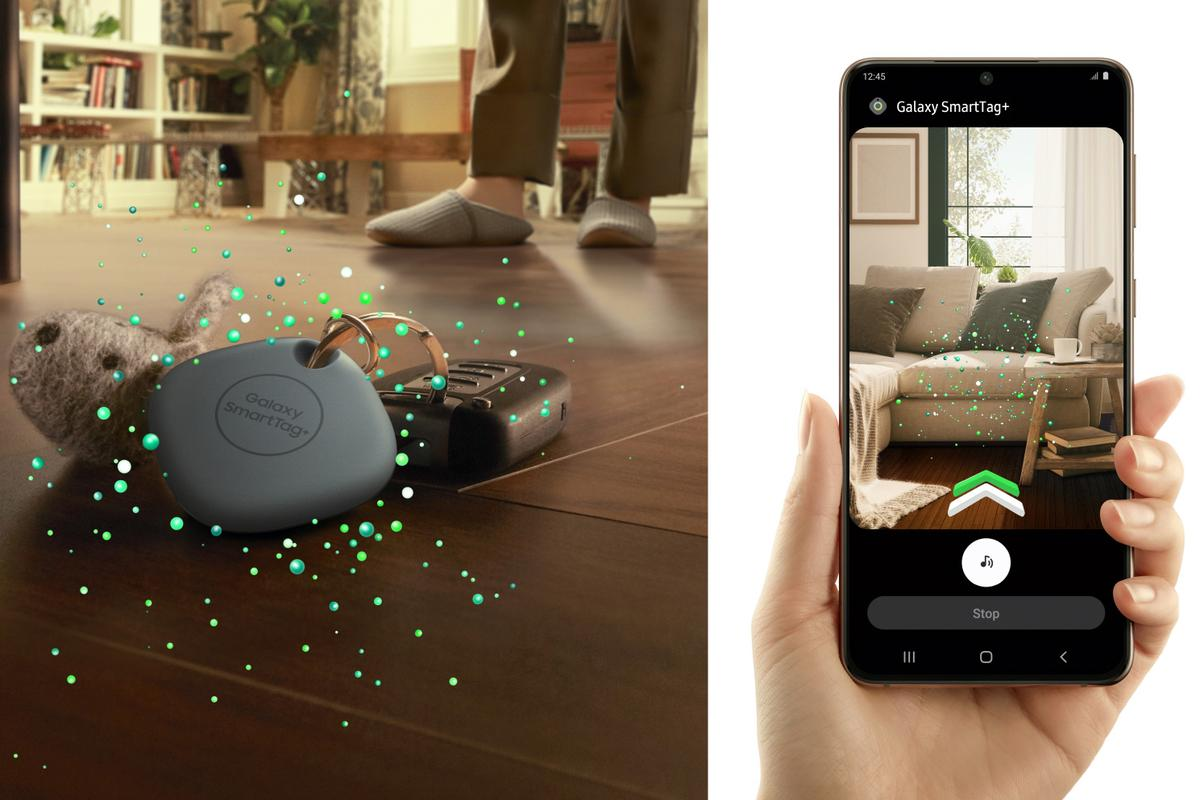 Samsung's Galaxy SmartTag+ can help you find lost items with an augmented reality overlay