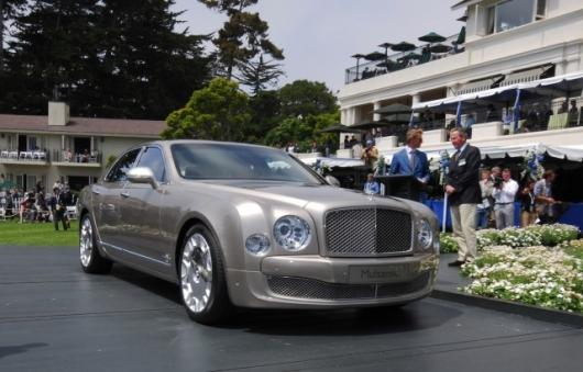 The new Bentley Mulsanne debuted at the Pebble Beach Concours D'Elegance in Monterey, California