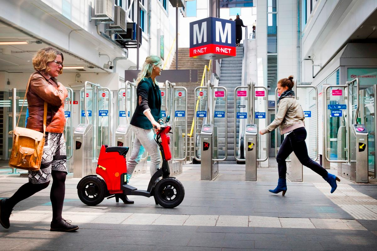 The Gigi folding electric scooter