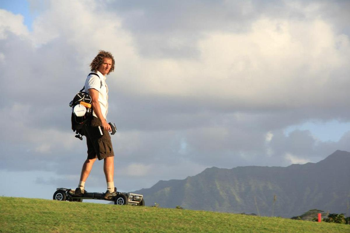 The GolfBoard is a more adventuresome alternative to the golf cart