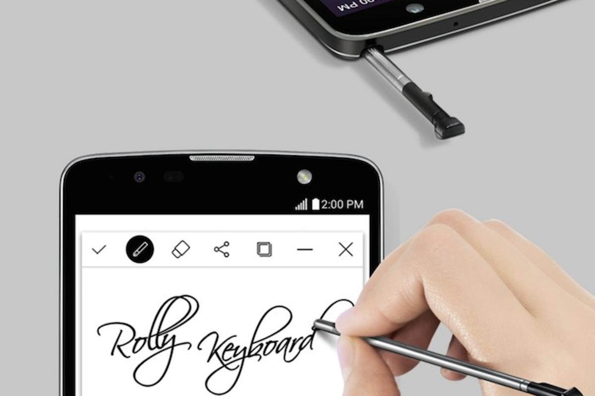 Like the previous model, LG's Stylus 2 Plus lets you handwrite notes on the screen with a nano-coated stylus pen