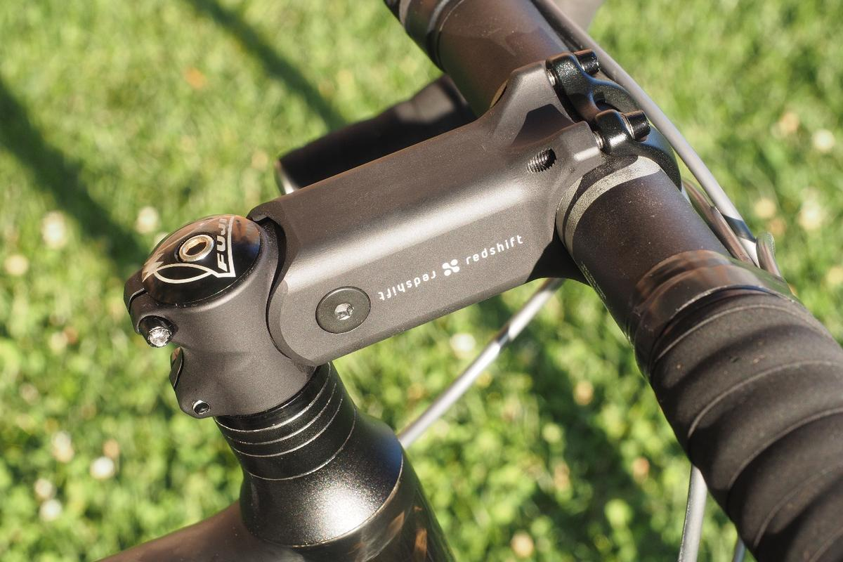 The ShockStop handlebar stem pivots to soak up road vibrations