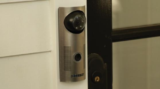 DoorBot streams video and audio to your smartphone or tablet, wherever you are