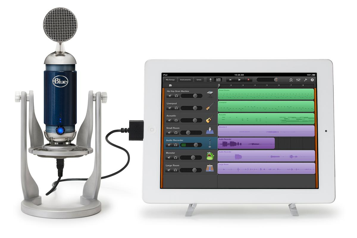 Blue Microphones has unveiled three new microphones at CES 2012 - the Apple-centric Mikey Digital, the studio-grade Spark Digital (shown) and the USB-stick-like Tiki