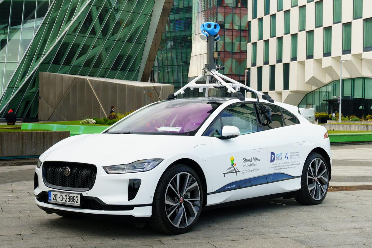 The first all-electric Google Street View car, based on Jaguar's I-Pace
