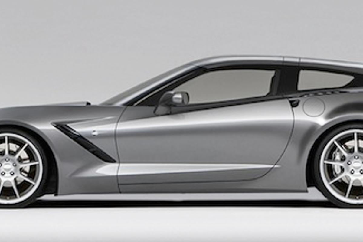 The Callaway AeroWagon package broadens the hatchback on the new Corvette