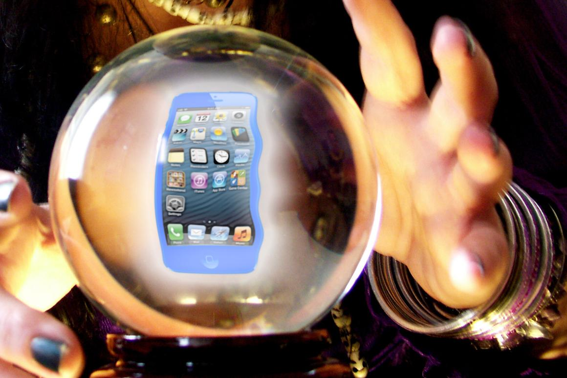 'Tis the season for analysts to gaze into their crystal balls (original background: Shutterstock)