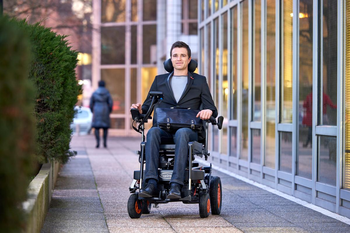 The TopChair-S provides the user with greater independence