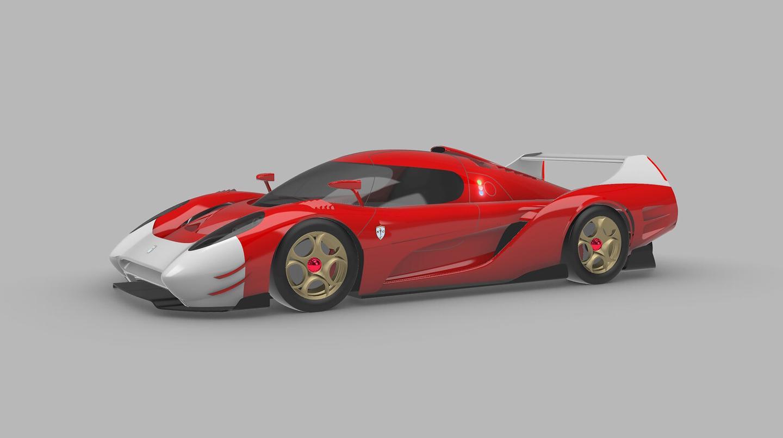 Extreme LMP1 hypercar-style aerodynamics