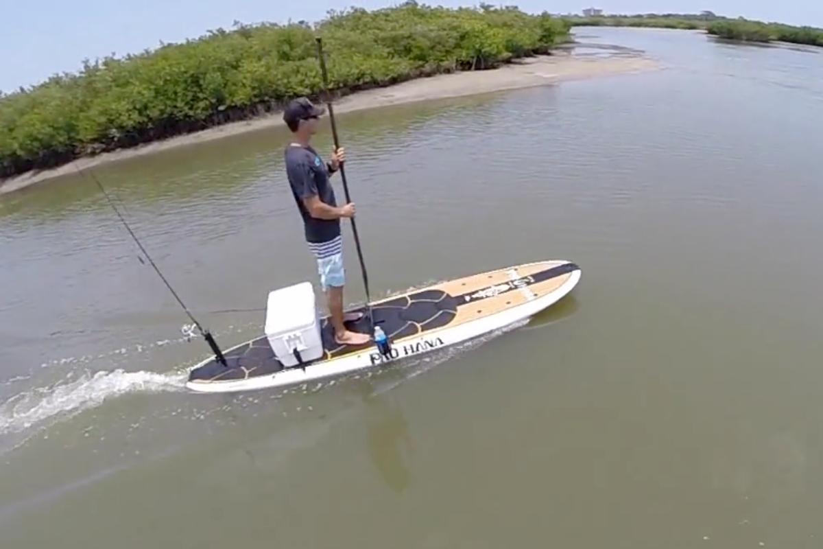 Trolling the local waters on the WaveJet Pau Hana Angler