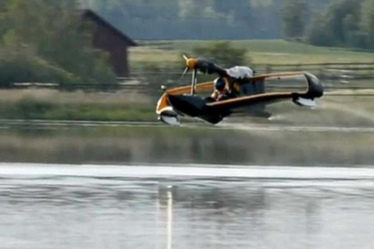 The FlyNano prototype, at Finland's Lake Hepari