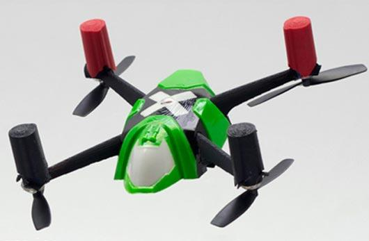 The NanoQ automatically stabilizes mid-flight using a 3-axis gyro and accelerometer