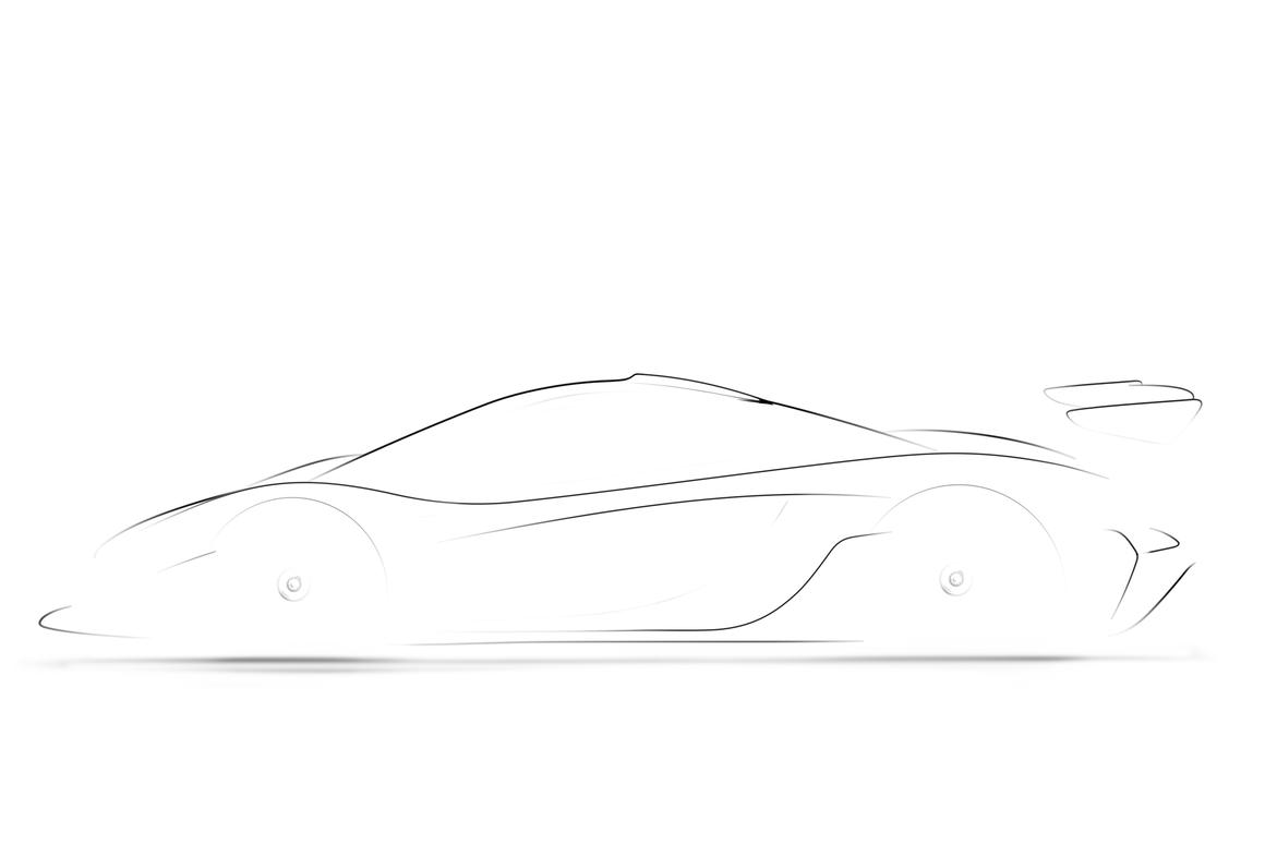 McLaren's only image release of the P1 GTR – the promise of things to come