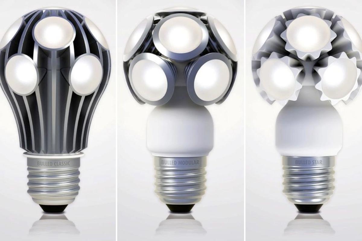 LEDO's Classic (left), Modular and Star LED retrofit bulbs
