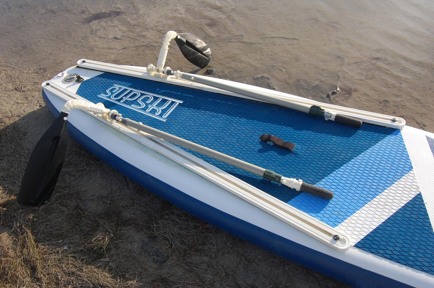 A close look at the Supski's paddling system