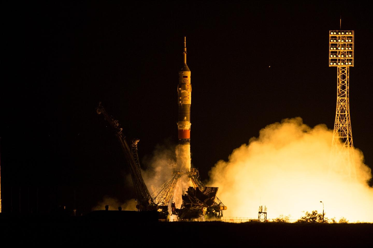The Soyuz TMA-17M spacecraft was launched from the Baikonur Cosmodrome