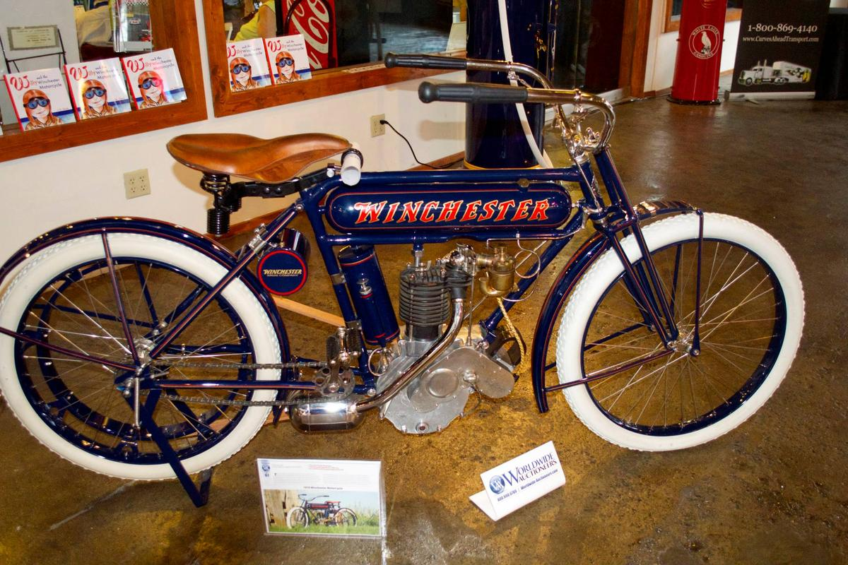 "The discovery that a gun collector paid US$580,000 for a 1910 Winchester (""the gun that won the West"") motorcycle at auction in August, 2013 offers a direct comparison between the perceptions of value of the gun and motorcycle markets: the motorcycle collector marketplace appears significantly undervalued by comparison to the gun marketplace and indeed, almost any other collectible marketplace."