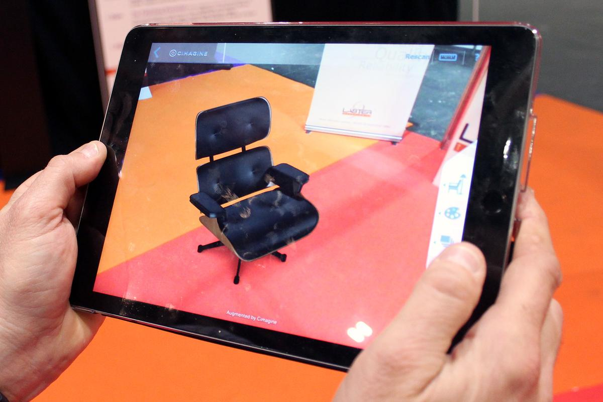 UK consumers can try out Cimagine's AR platform right now on over 1,000 products (Photo: Chris Wood/Gizmag)