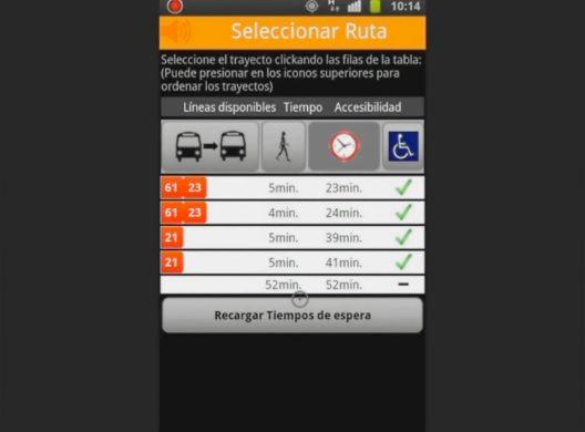 Among other things, OnTheBus tells users how long they will have to wait for their chosen bus