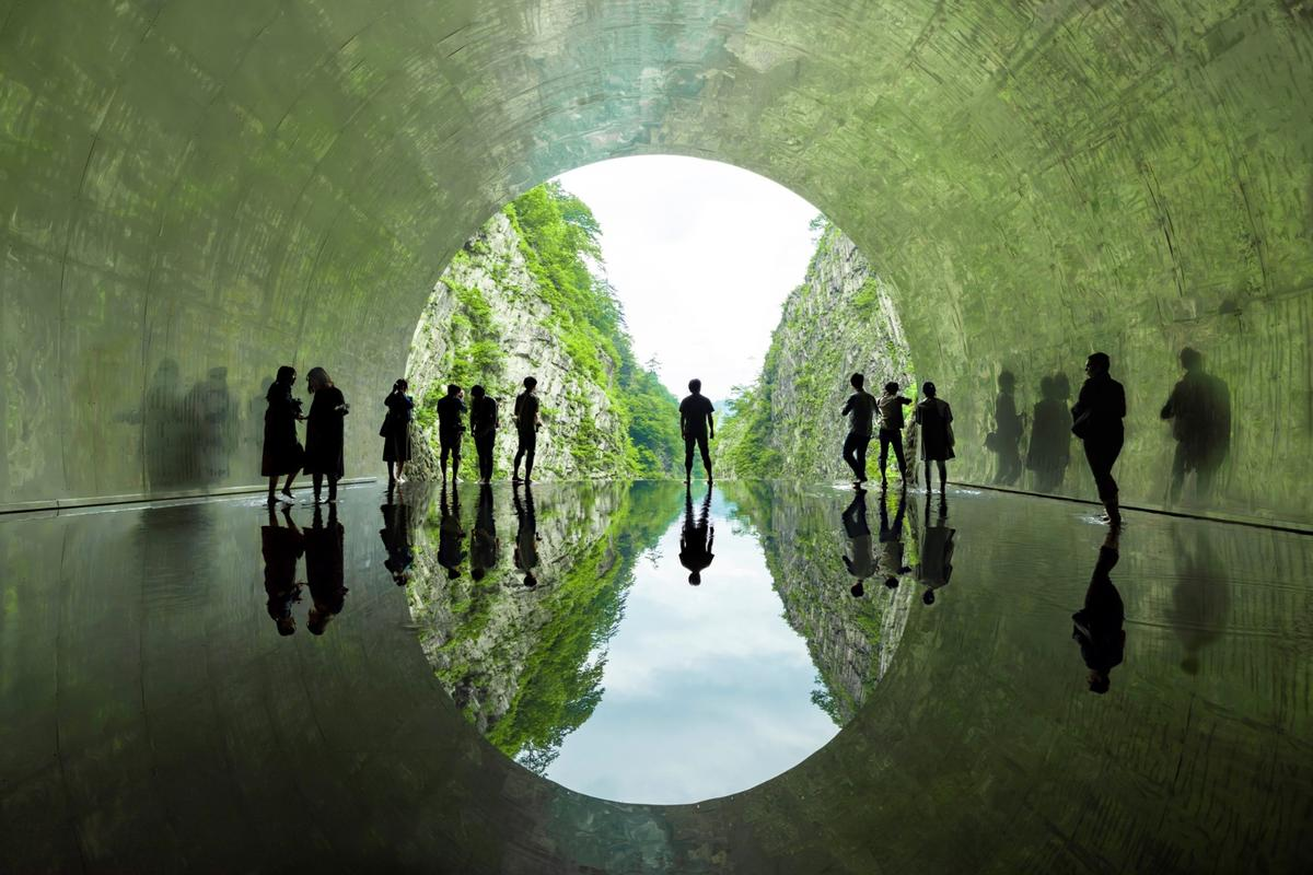 The Kiyotsu Gorge Tunnel was renovated by MAD Architects as part of the 2018 Echigo-Tsumari Triennale