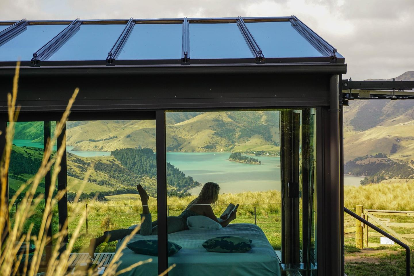 All PurePods feature glass walls, floors and ceilings