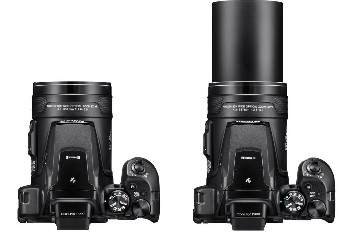 The Nikon Coolpix P900 has a whopping 24-2000-mm equivalent zoom lens