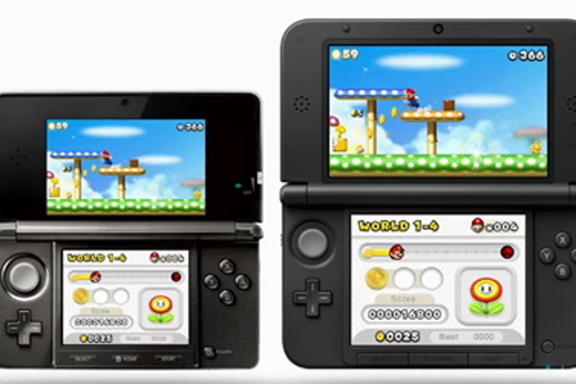 The 3DS XL features screens 90 percent larger than the original 3DS