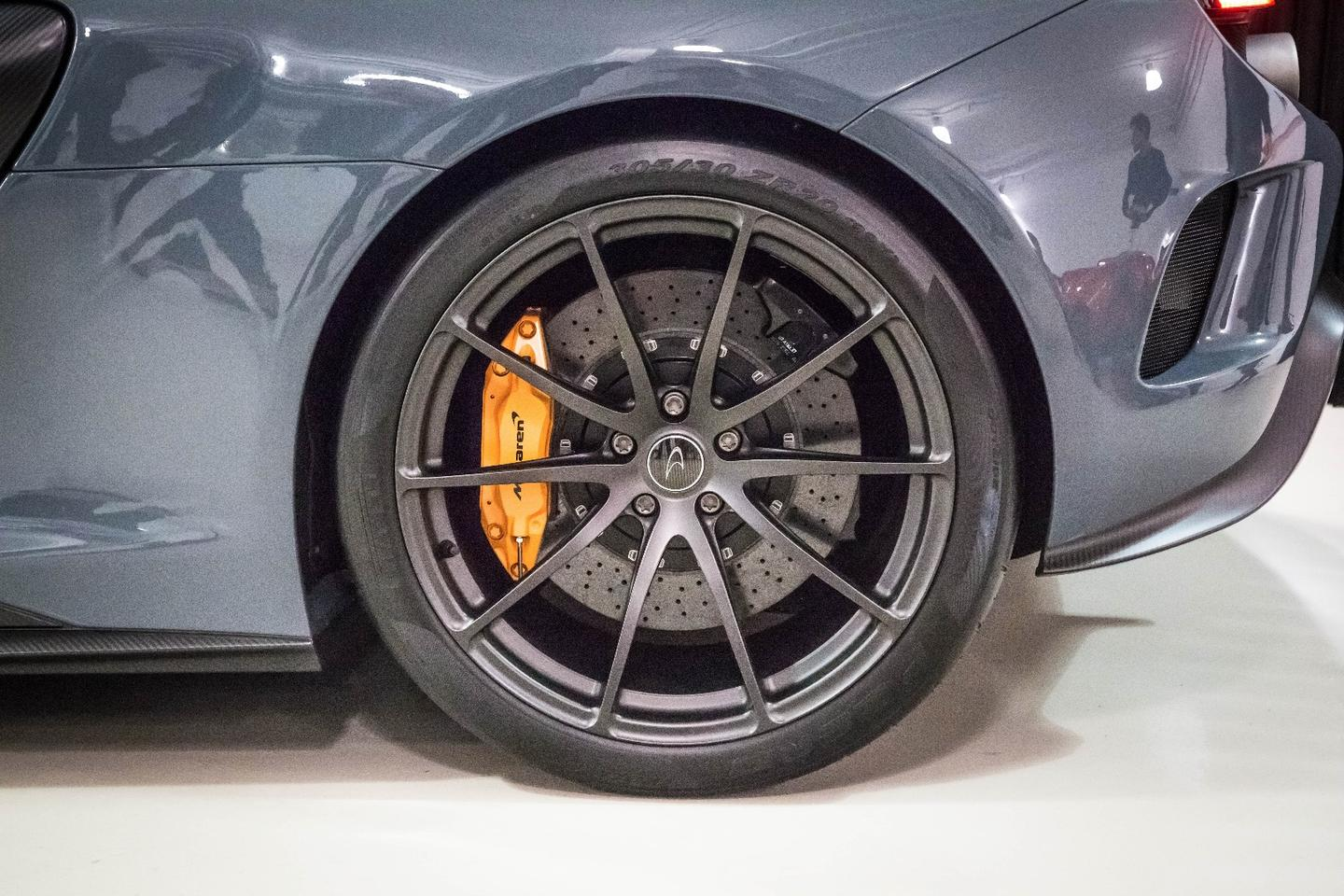 There are a number of wheel options on the 675LT - the ones on this car are the lightest option