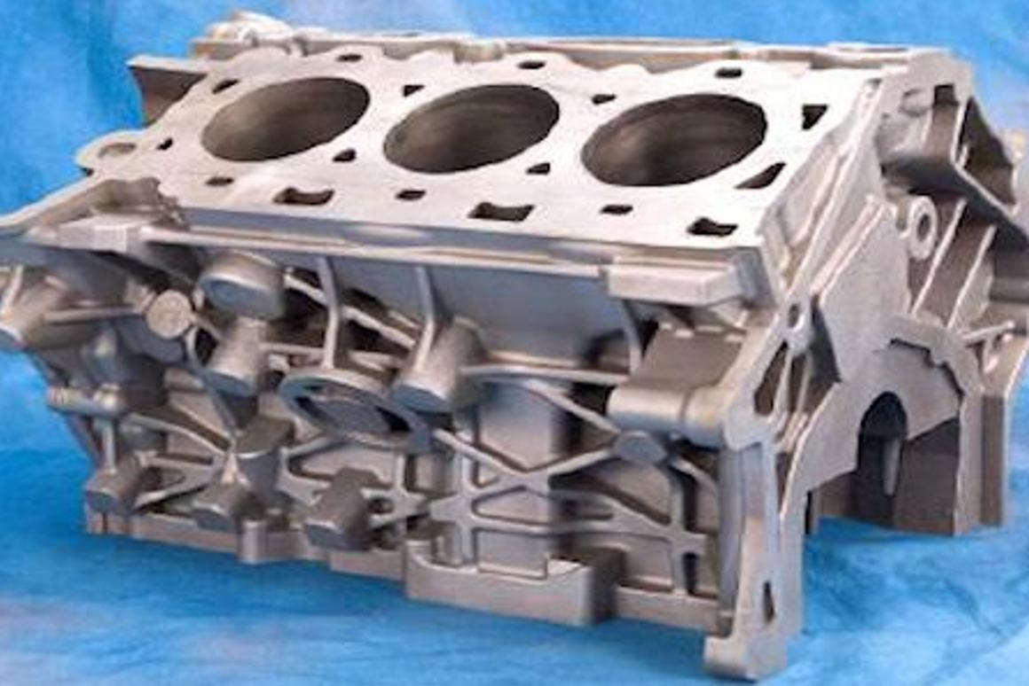 2.5 liter V6 magnesium alloy engine block (Photo: US Department of Energy)