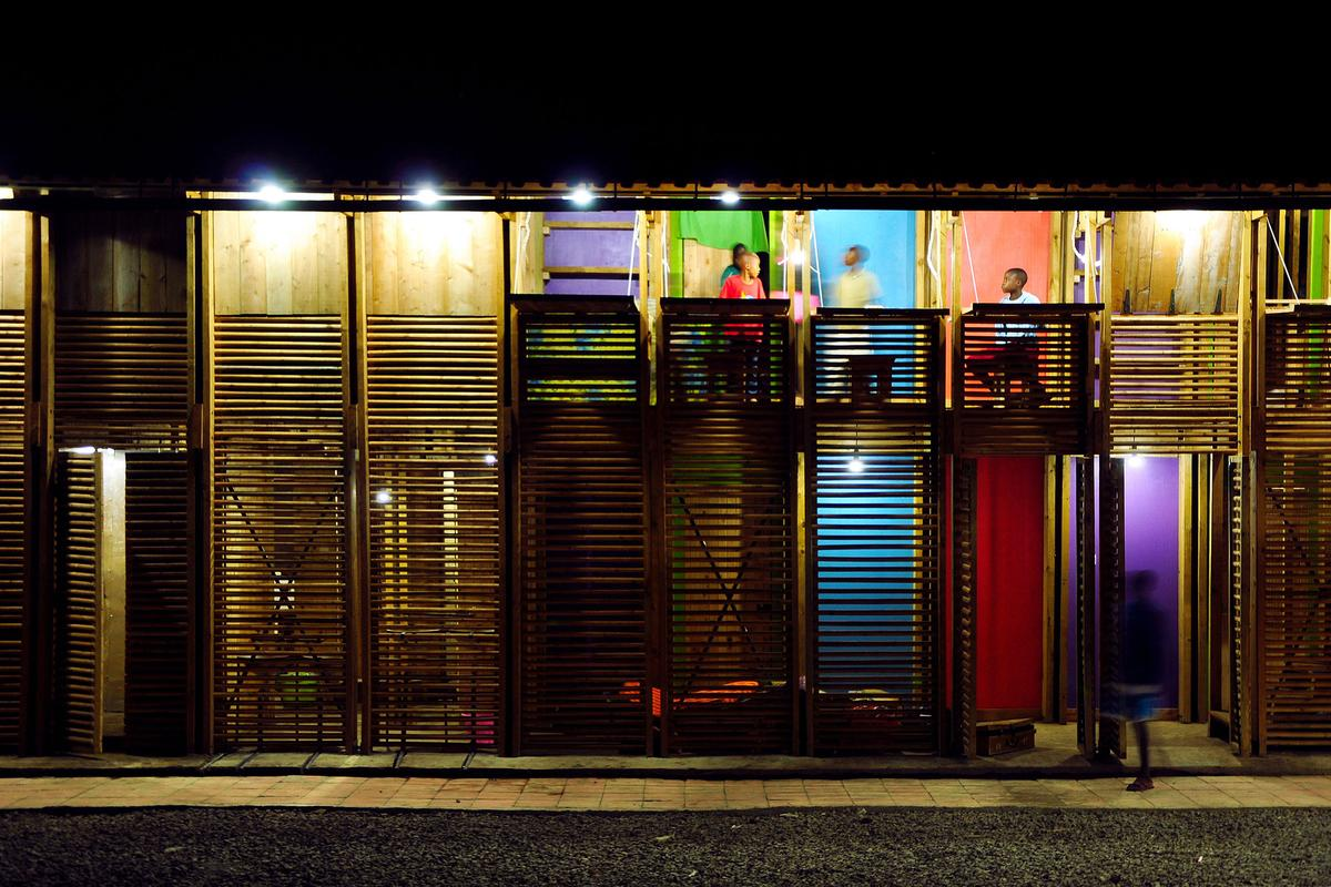 The finished building is colorful and fun (Photo: Odysseas Mourtzouchos)