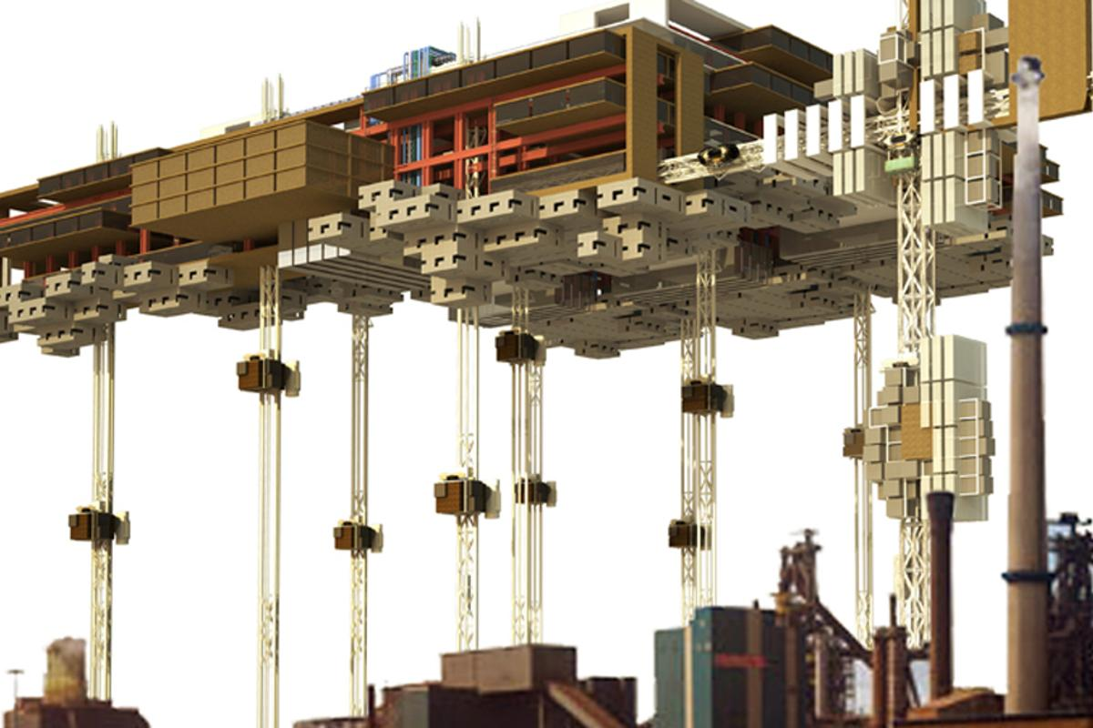 The Vertical Prison would have inmates serve time in a wall-less prison in the sky