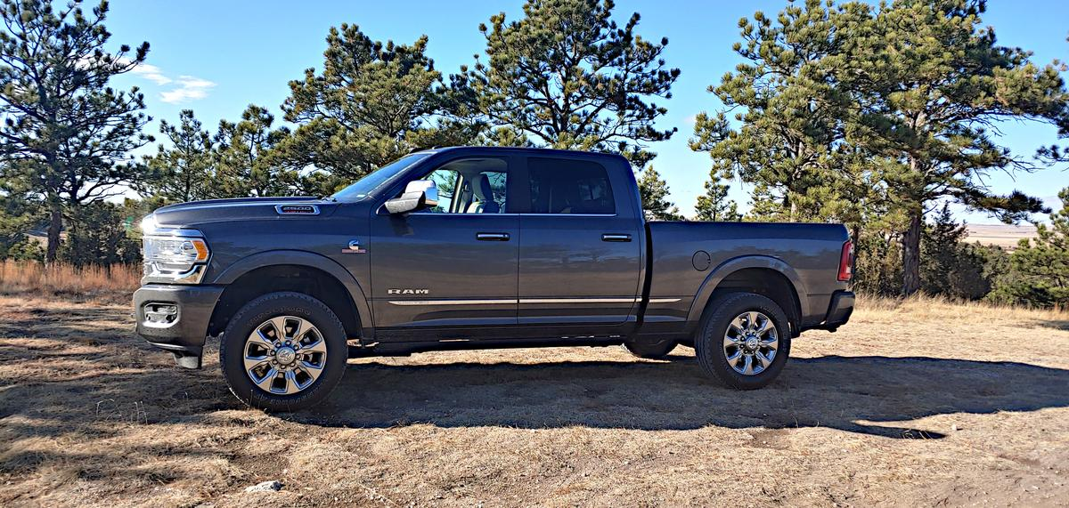 There are six trim levels available for the Ram 2500, starting with the base model Tradesman and running through to the Limited shown here