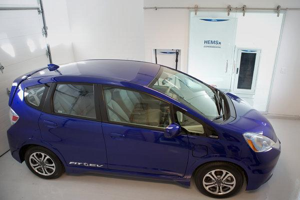 The home is equipped with a Honda Fit EV, with the solar panels providing enough juice for a typical daily commute
