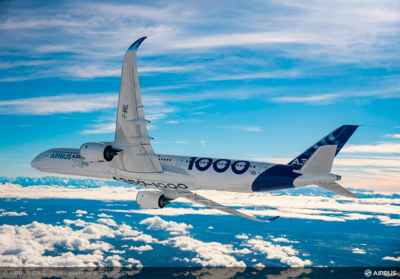 The Airbus A350-1000 is scheduled to go into operation during the second half of next year