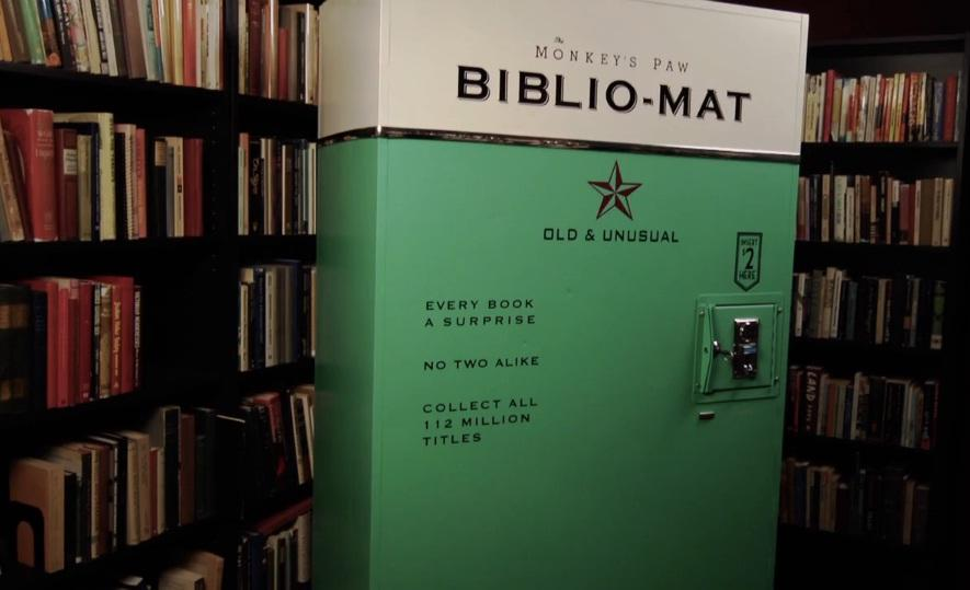 Biblio-Mat by Craig Small is a vending machine located in The Monkey's Paw book shop in Toronto, Canada
