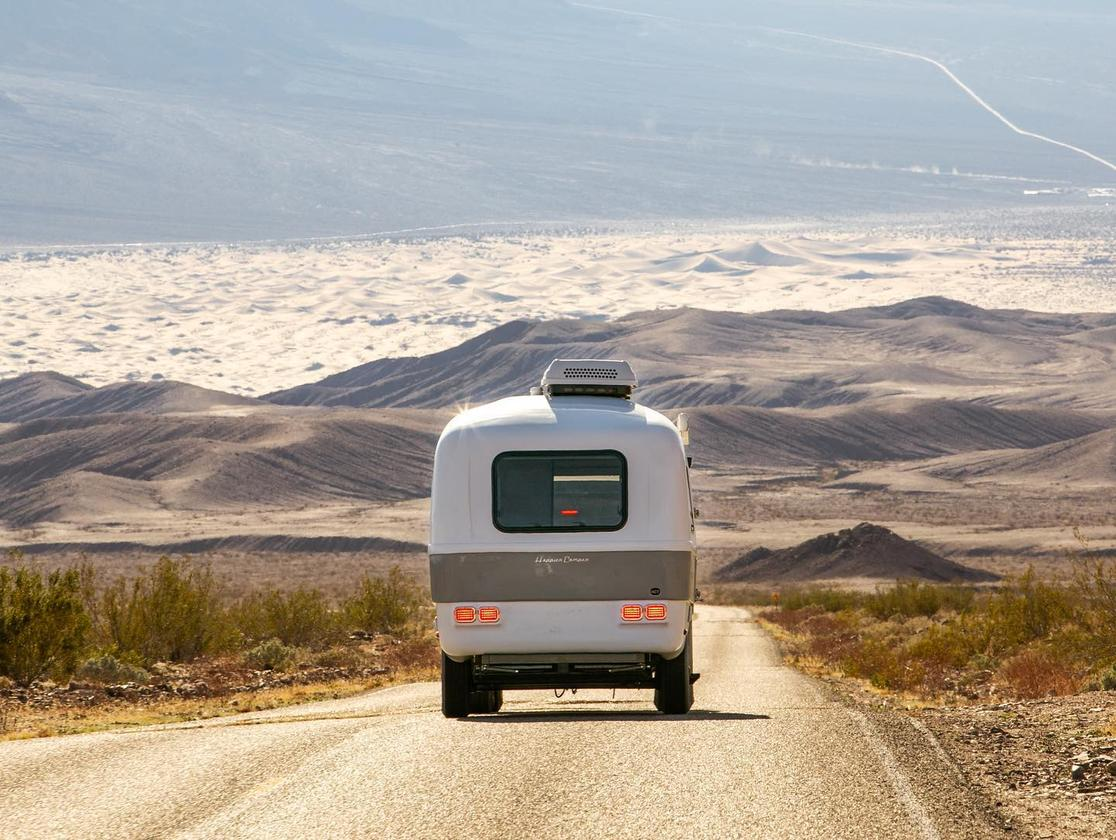 On the road with the new Happier Camper Traveler in tow