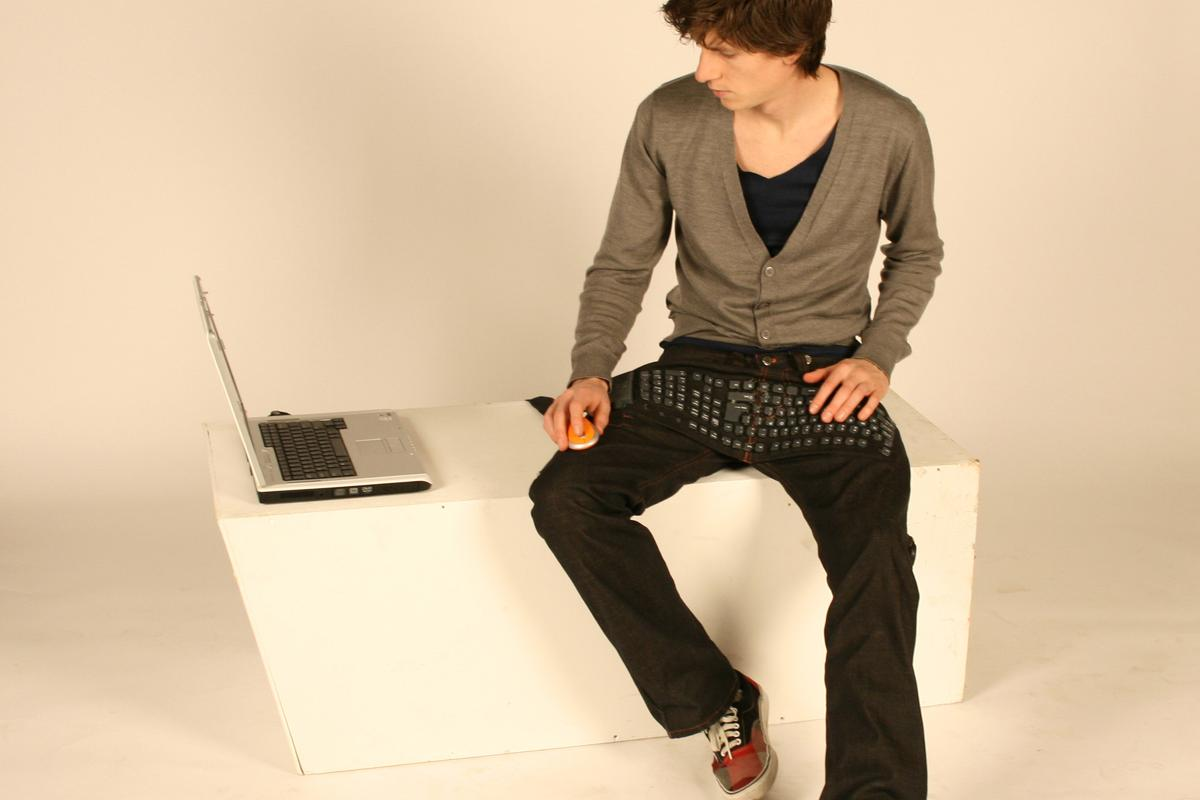 """Nieuwe Heren's """"Beauty and the Geek"""" concept incorporates a keyboard into a pair of jeans"""