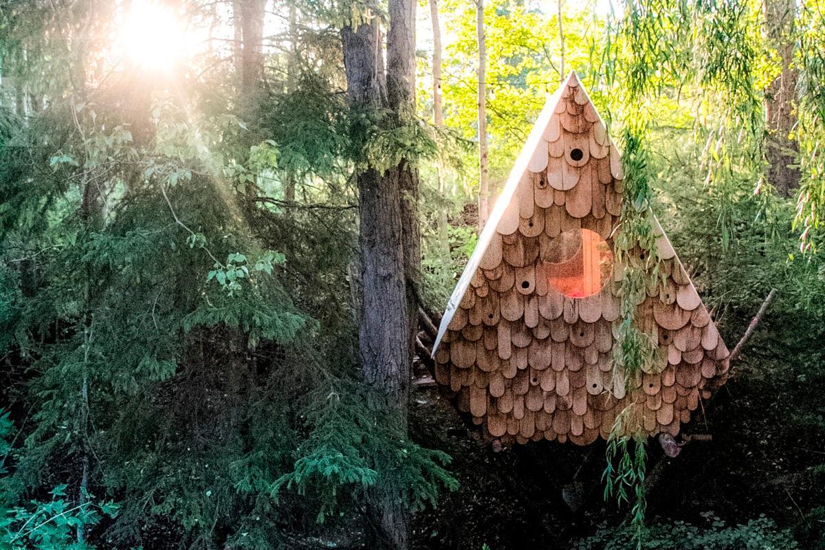 The Birdhut is located in British Columbia, Canada