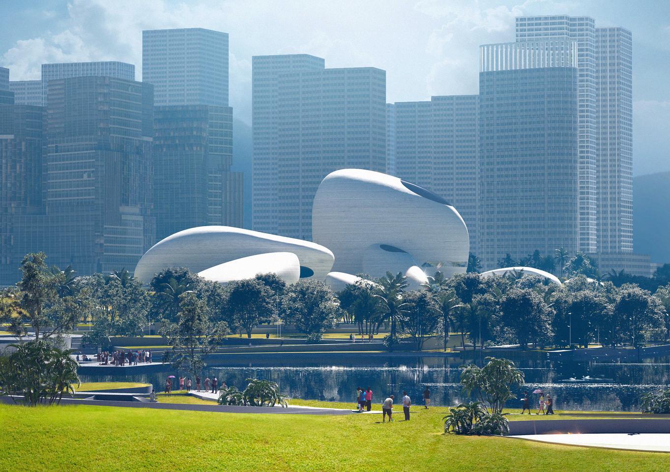 Парк культуры залива Шэньчжэнь будет включать большие зеленые общественные пространства