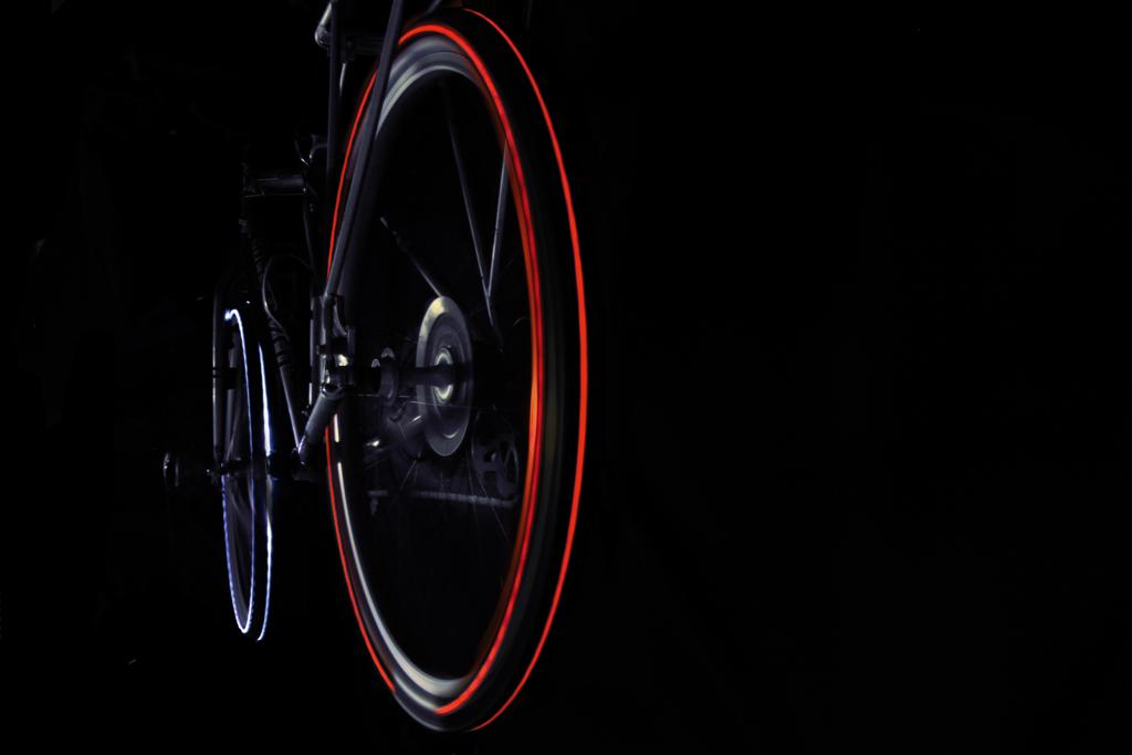The Cyglo bike tire embedded with LED lights