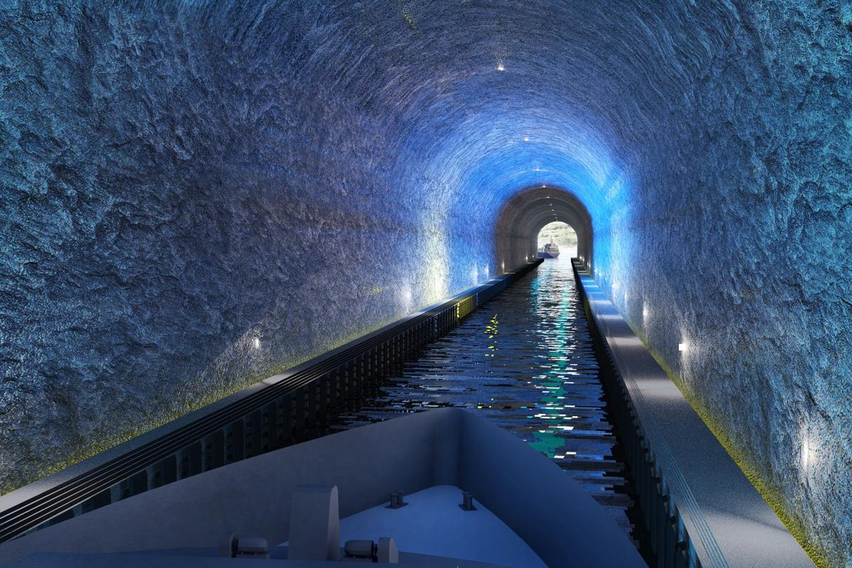 The Stad Ship Tunnel will reach a length of 1.7 km (1.05 miles)