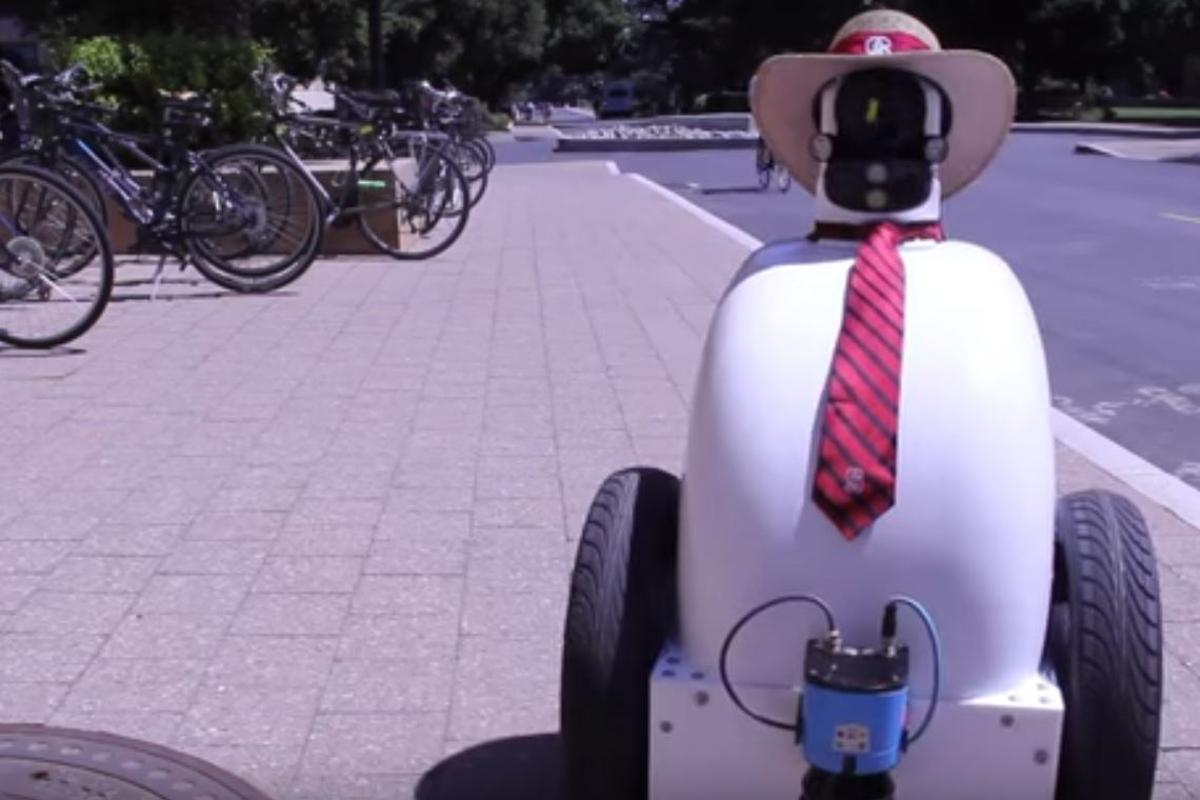 Jackrabbot is designed to learn how to share the pavement with pedestrians