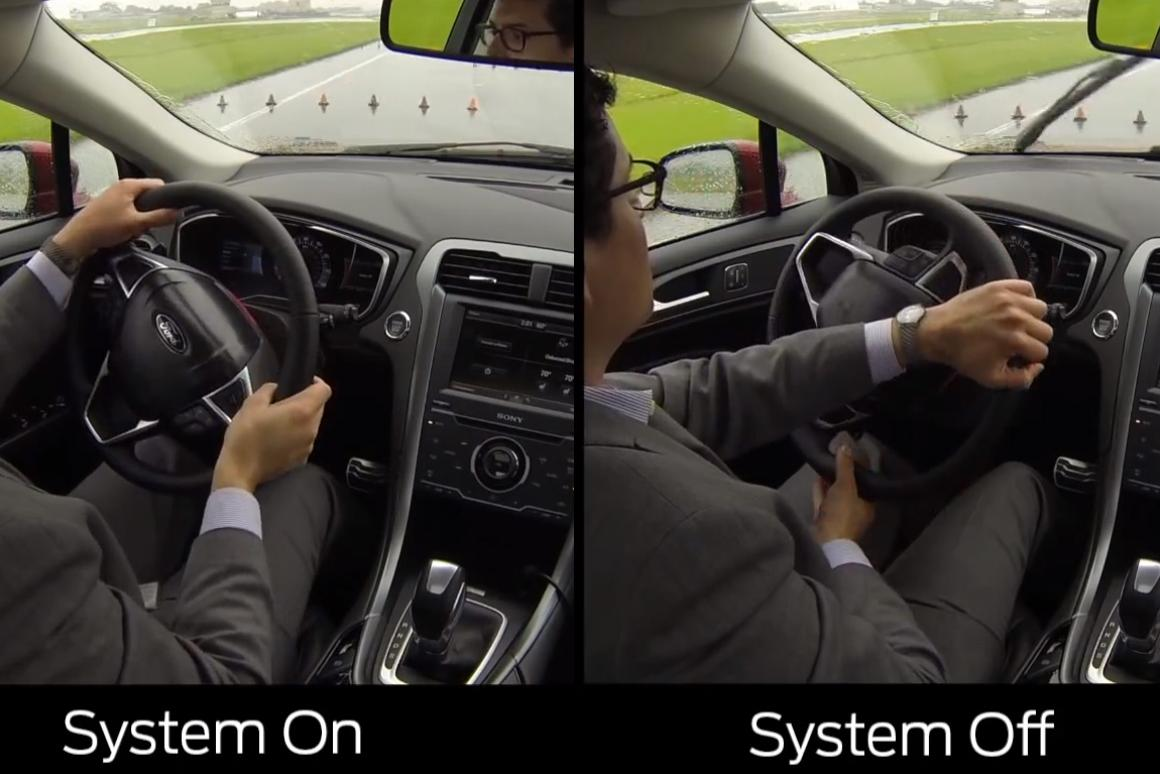 Ford's Adaptive Steering system alters the steering ratio based on vehicle speed