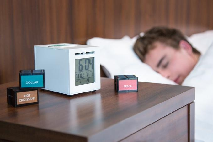 SensorWake emits your favorite scents just as you're due to wake