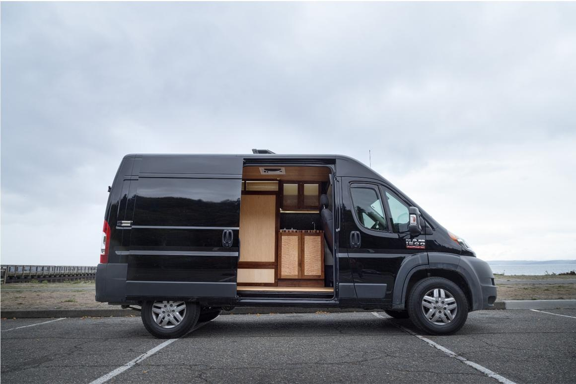 Professionalcarpenter and wood worker Ryan Wells has recently turned his hand toconverting utility vans into smart campervans
