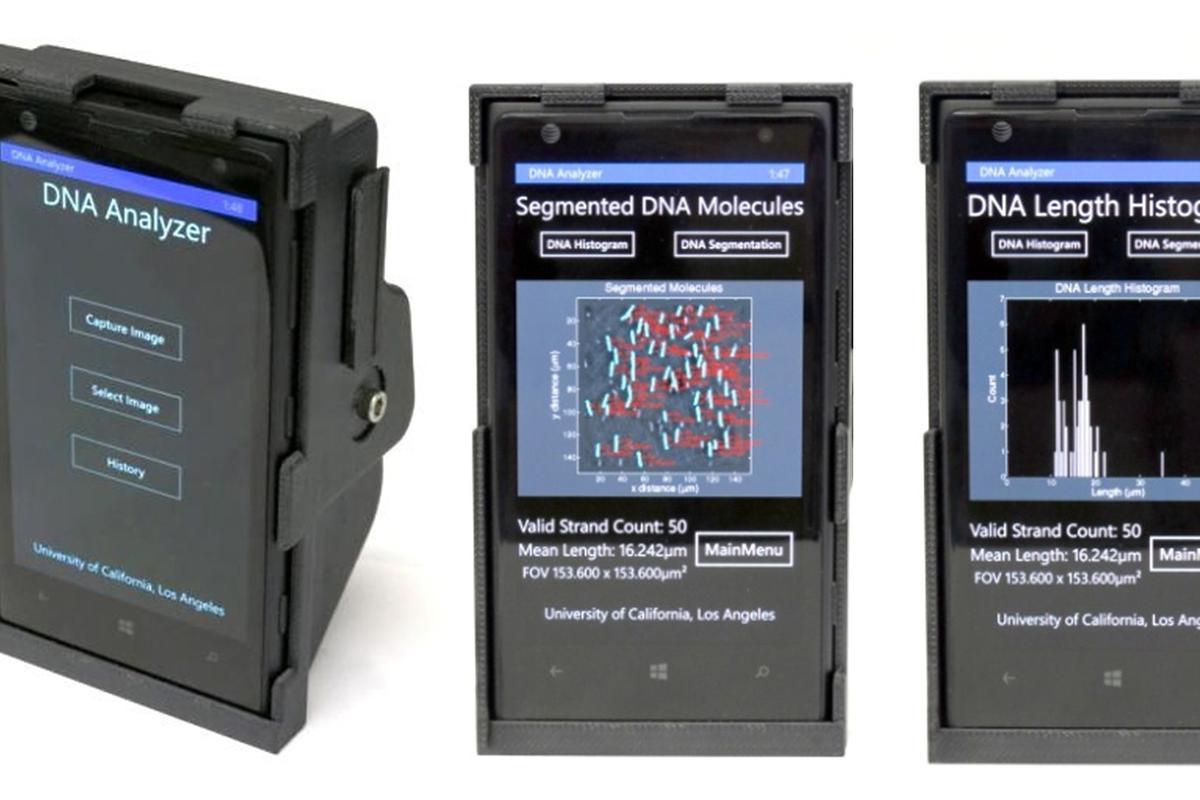 A cheap smartphone attachment can resolve single strands of DNA for remote diagnostics (Photo: UCLA)