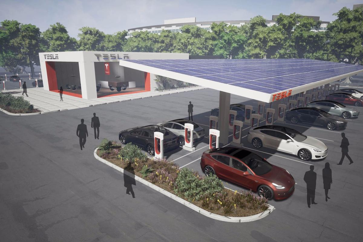 Teslasays it will also expand existing sites to accommodate more cars at once